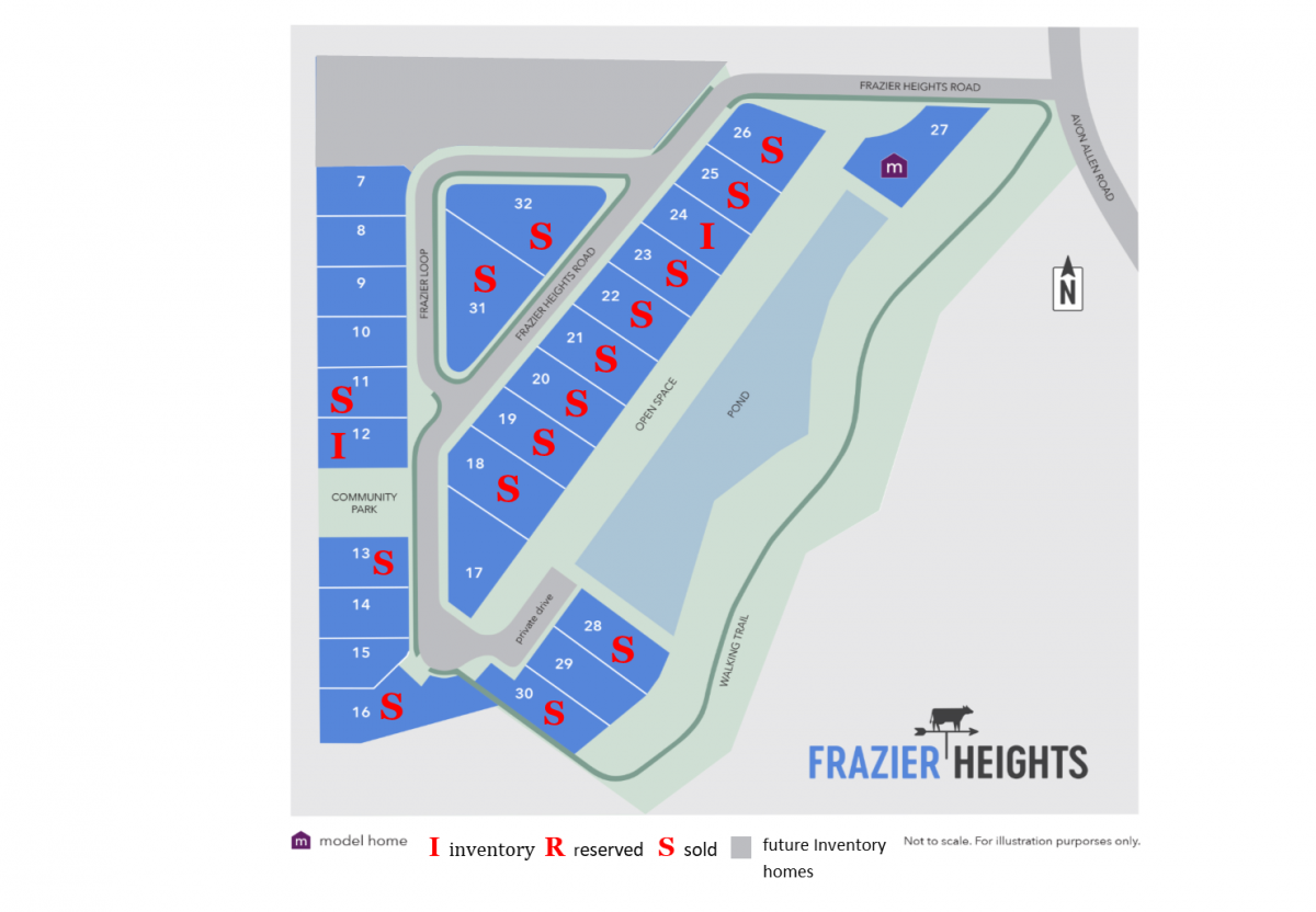 Frazier Heights availability as of 3.16.18