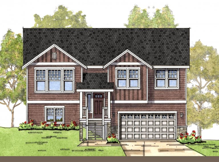 Modern Country 1 elevation